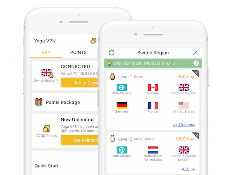 Yoga VPN screenshot