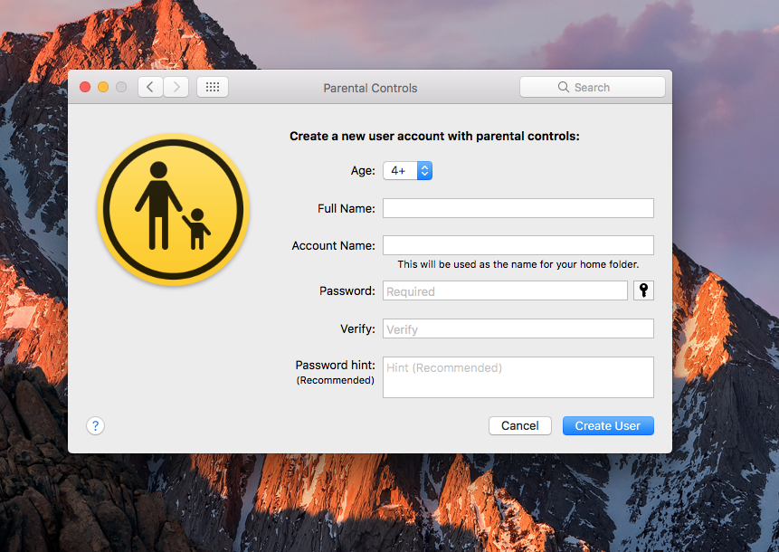Parental controls for mac