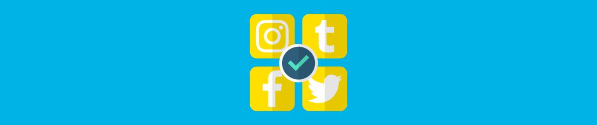 Illustration of popular social networks