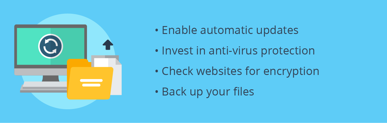A list of tips for keeping your files secure