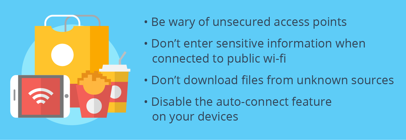 A list of tips for staying secure on public WiFi