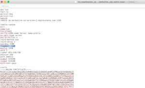 ExpressVPN iPad OpenVPN fragment error