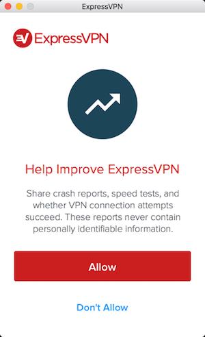 ExpressVPN Mac permissions screen