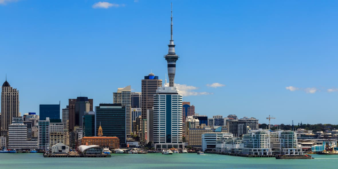 Cityscape of New Zealand's Capital City Auckland