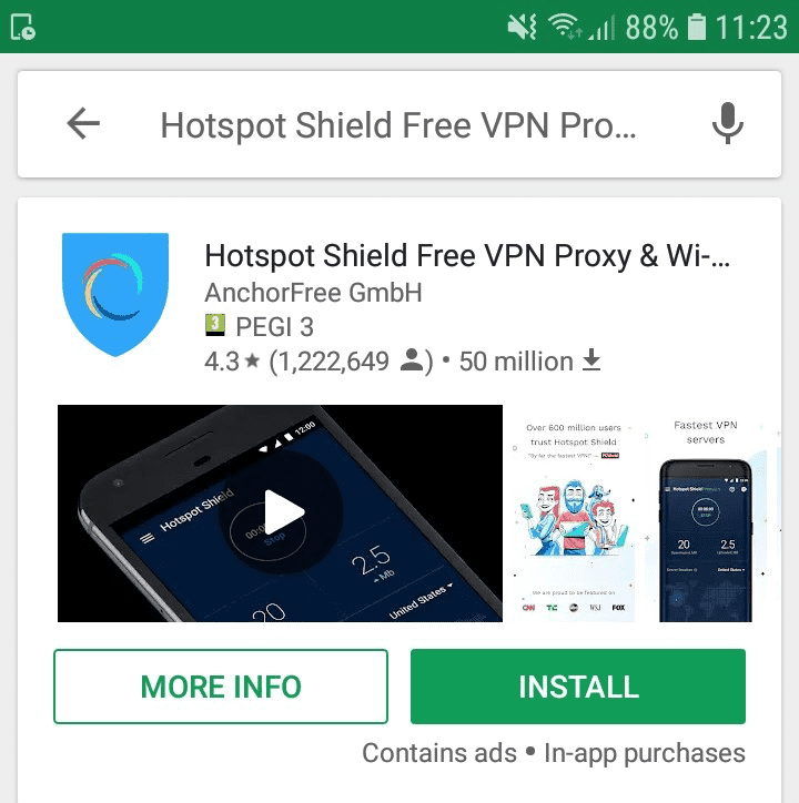 Free VPN Risk Index: Android Apps