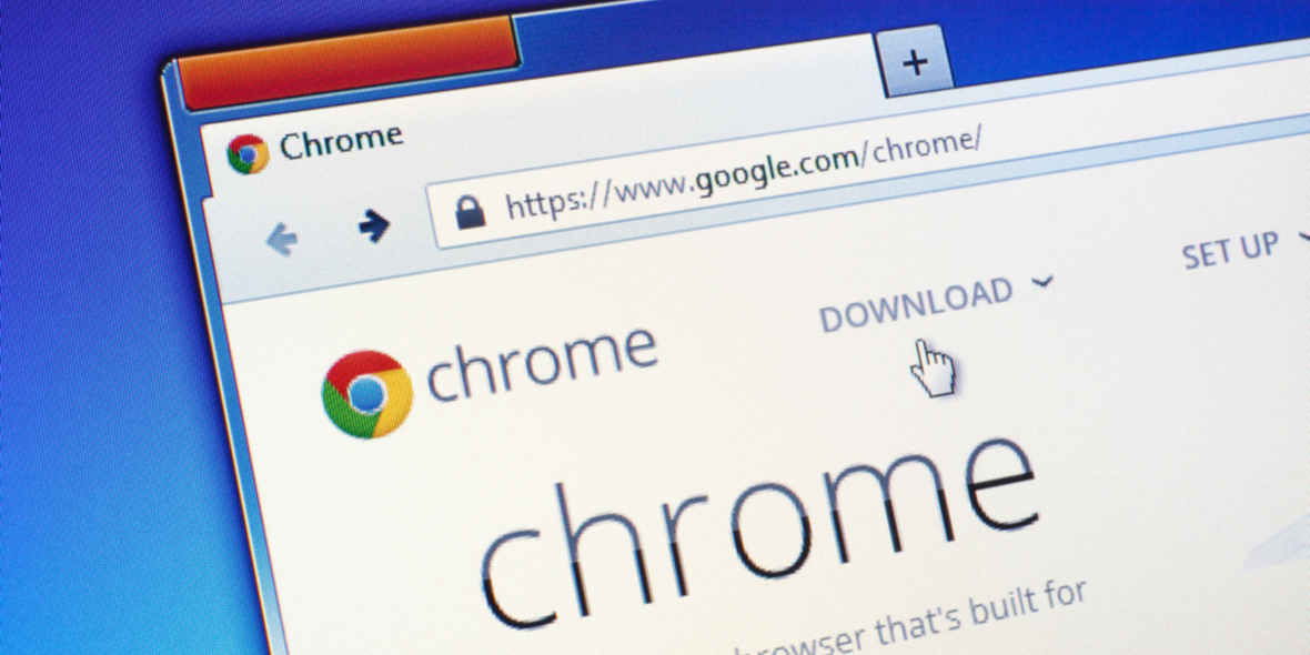 Magnified Image of Google Chrome Browser