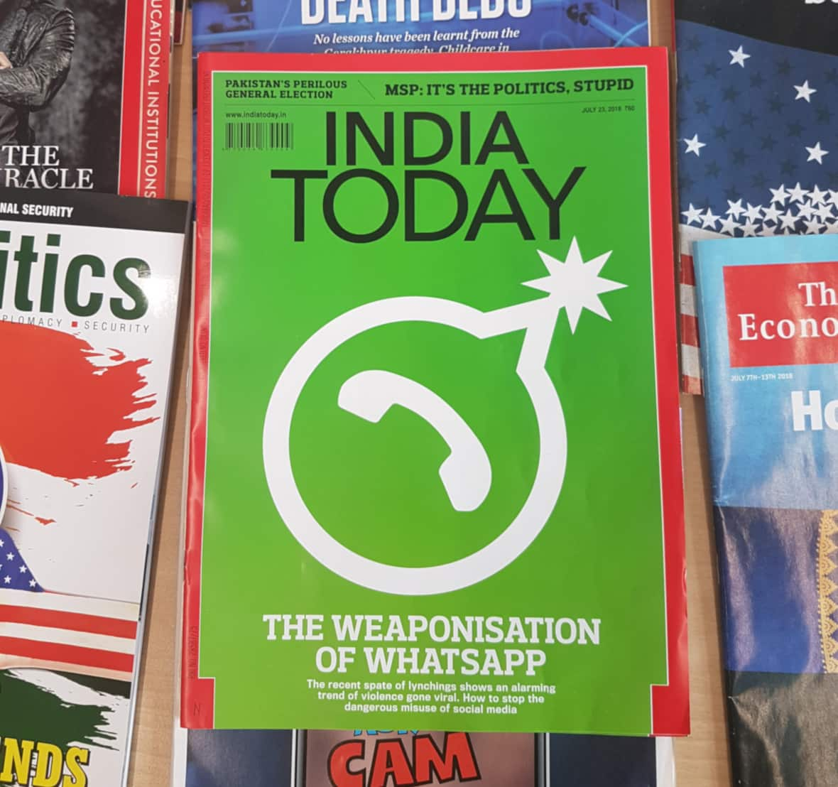 Cover of India Today with headline The Weaponisation of WhatsApp