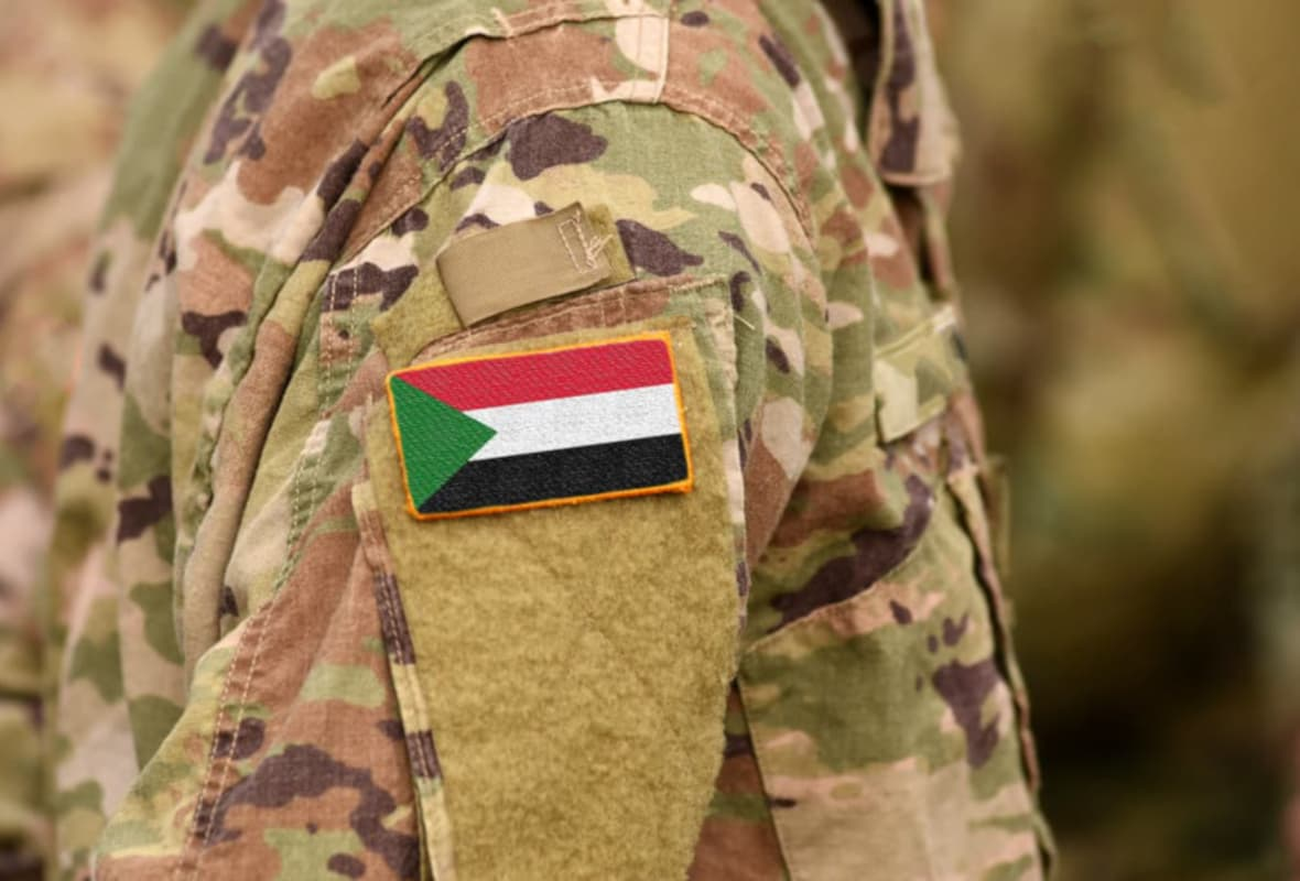 Military Fatigues with Sudan Flag on the Shoulder