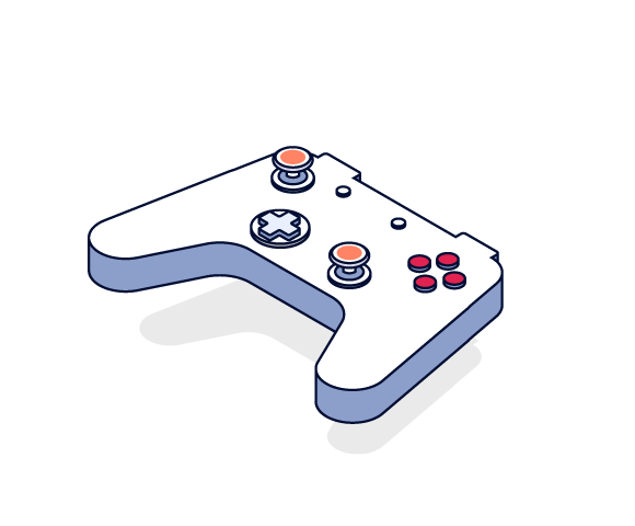 Illustration of games console controller