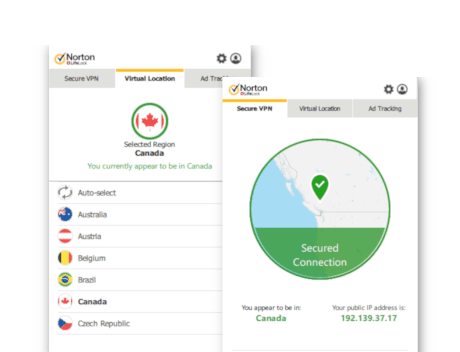 Norton Secure VPN screenshot