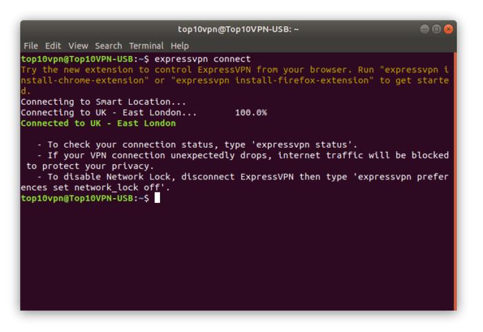 ExpressVPN running on Linux