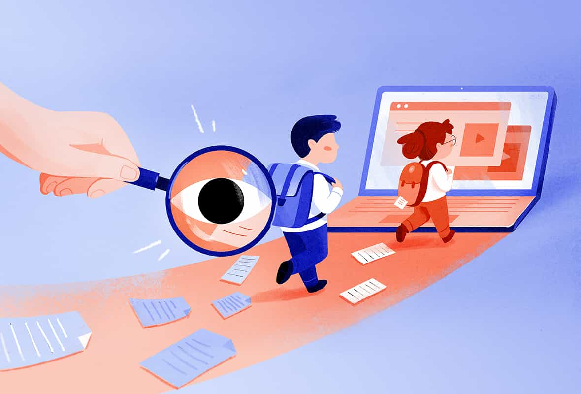 Remote learning platforms privacy investigation header illustration