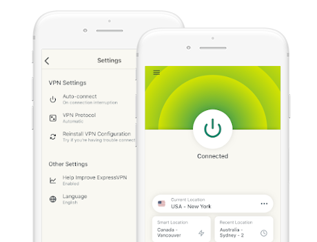ExpressVPN's new app on mobile devices
