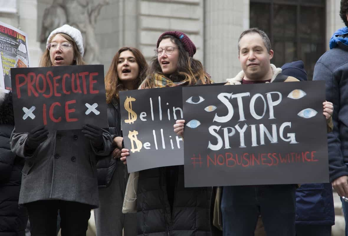 Protests against Immigration and Customs Enforcement (ICE) surveillance